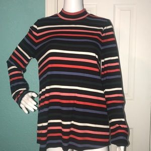 Colorful Striped Turtle Neck Old Navy Women's XXL